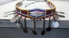 Burgundy Maasai Necklace Engotoo by DynastAmir on Etsy