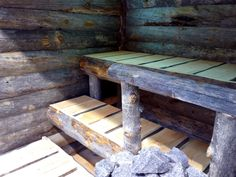 Uhtua kelosauna Sauna Ideas, Outdoor Sauna, Sauna Design, Log Houses, Saunas, Wet Rooms, Outdoor Furniture, Outdoor Decor, Home Projects