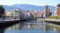 Puente del Arenal y Teatro Arriaga - Ría de Bilbao, Vizcaya  www.fotoviajero.com