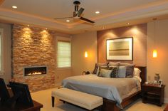 A gorgeous master bedroom with a FIREPLACE!!! It looks so warm, cozy and inviting. Call 610-775-7575 for a FREE consultation!