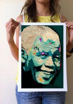 GICLÉE ART PRINT:   Nelson Mandela home decor by CiaranMonaghan