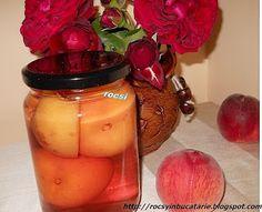 Rocsy in bucatarie: Compot de piersici Jar, Decor, Canning, Decoration, Decorating, Jars, Glass, Deco