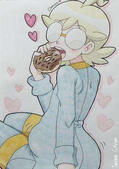 Clemont eating a donut O///O❤❤❤