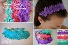 Queens Lace Beaded Beauty Paisley Headband By Lorene Haythorn Eppolite - Cre8tion Crochet - Free Crochet Pattern - Adult And Child Sizes - (ravelry)