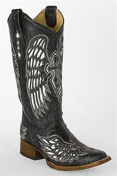 Corral Women's Black Cross and Wings Cowgirl Boots available at out Erie location and online!  *CALL FOR AVAILABILITY!* http://www.headwestoutfitters.com/Corral-Womens-Black-Cross-and-Wings-Cowgirl-Boots.aspx
