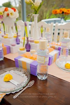 Spa Party Table Settings #spaparty #tablesettings