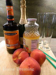House Dressing: Frozen Peach Bellini