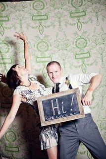 Personalize your photo booth by encouraging guests to leave chalkboard messages.