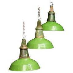 Green Industrial Pendants by Wardle of Manchester