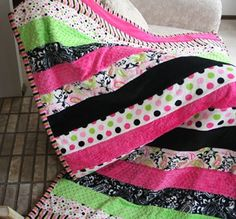 The Sorority Snuggler Minky Quilt Pattern Download by Seven Brides Designs