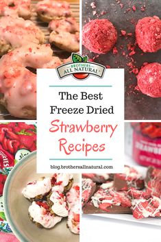 Wondering how to use freeze dried strawberries? Check out our best freeze dried . - cookies - Wondering how to use freeze dried strawberries? Check out our best freeze dried Best Freeze Dried Food, Freeze Dried Fruit, Freeze Drying Food, Oven Dried Strawberries, Freeze Dried Raspberries, Frozen Strawberries, Strawberry Recipes, Fruit Recipes, Breads