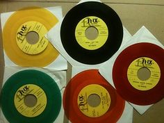 Does anyone else remember having colored 45s like these?
