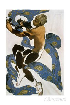 The Faun (Nijinsk), Costume Design for the Ballets Russes, 1912 Giclee Print by Leon Bakst at AllPosters.com