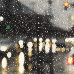 Elizabeth Patterson's Rainscape DRAWING series features patterns created by water and nightlight on her windshield during a rainstorm.