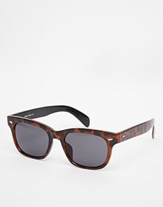 AJ Morgan Wayfarer Tort Sunglasses. A classic that works great with everything! Wear both casually and formally with suits. http://asos.to/1nml4Kl