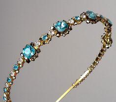Gold headbandCrystal wedding headband Swarovski by ZTetyana