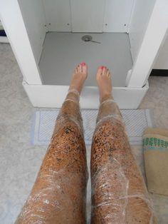 Coffee scrub, tightens & smoothens skin. Also fights cellulite.