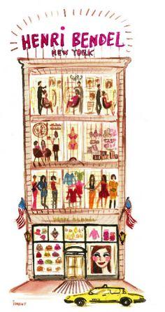 Henri Bendel #HB Henri Bendel #henribendel #illustrations #wendyheston likes #shopbendel #charmiesbywendy loves #henribendelilustrations