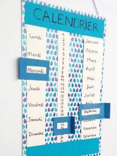 Un calendrier qu'on peut utiliser plusieurs années de suite sans en changer ? Diy For Kids, Crafts For Kids, Diy Organisation, Diy Cards, Classroom Decor, Kids And Parenting, Activities For Kids, Diy And Crafts, Easy Diy