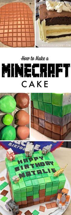 Minecraft Cake Tutorial | DIY Minecraft Cake HOW TO
