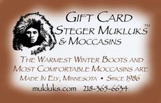 Having trouble deciding on the perfect gift - checkout our gift cards   #mukluks #stegermukluks #boots #winter