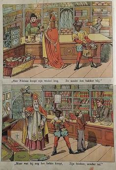 These good people are generous and give Saint Nicholas what he needs to help the poor. Evil Children, Play Clothing, Christmas History, Weird Vintage, Label Paper, Vintage Santas, Bedtime Stories, Vintage Christmas Cards, Paper Models