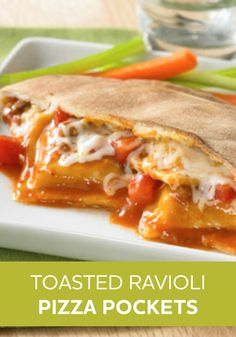These tasty Toasted Ravioli Pizza Pockets will be a weeknight dinner recipe you'll be going back to again and again.