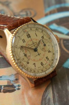 """Breitling Chronomat ref. 769 18kt rosé gold Cal. Venus 175 1940's in the """"Show us your aviator watch"""" photo contest."""