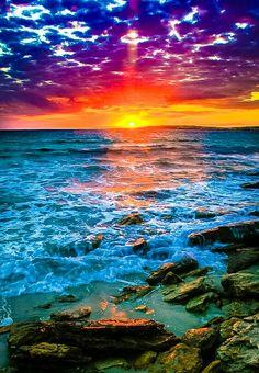 Sunset Sunrise Just plain beautiful! is part of Sunset - Beautiful World, Beautiful Places, Beautiful Pictures, Landscape Photography, Nature Photography, Contemporary Photography, Beautiful Sunrise, Beautiful Ocean, Nature Scenes