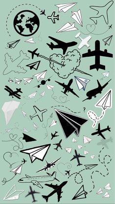 Iphone Wallpaper Airplane, Iphone Wallpaper Vsco, Soft Wallpaper, Travel Wallpaper, Black Wallpaper, Screen Wallpaper, Aesthetic Iphone Wallpaper, Pattern Wallpaper, Wallpaper Quotes