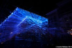 Teatro Del Mondo, A Temporary Light Installation for GLOW 2014, Eindhoven, Netherlands. By Dr. Lars Meeß-Olsohn, leichtbaukunst and Ali Heshmati, LEADinc with Andreas Pasieka sound design. Picture curtsy of Jesette Veltman-de Greef via Flickr.