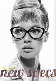 i kinda want some fake glasses! New Specs, Mad Men Secretary Era Style?