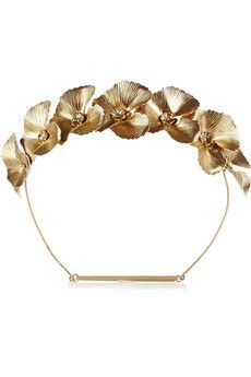 Jennifer Behr Poppy gold-tone headband | NET-A-PORTER
