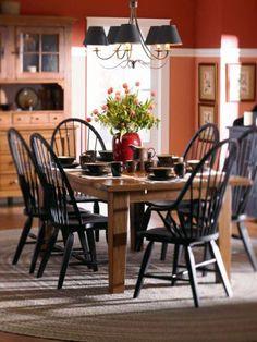 Windsor Side Chair-Black, Broyhill, Attic Heirlooms