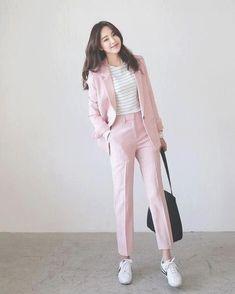 Fashion ideas on korean fashion outfits 580 Trend Fashion, Korean Fashion Trends, Korean Street Fashion, Korea Fashion, Asian Fashion, Fashion Outfits, Fashion Design, Fashion Ideas, Fashion Pants