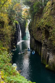 Miyazaki, Japan   Takachiho Gorge, a narrow split in the Gokase River, is one of the world's most spectacular sights. Cruise with Royal Caribbean to Miyazaki and don't miss Miyazaki-jingu, a shrine sacred to Jinmu, Japan's first emperor.