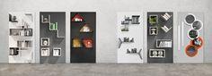 Mueble modular de pared composable modular Sistema Magnetika Colección Magnetika elementi by Ronda Design