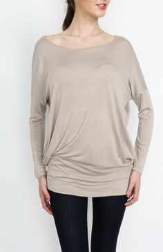Taupe Knit Long Sleeve Top - #WholesaleTops, #Casual #DayTops, #Solid, #Dressy #Chic #Trendy, #Spring #SpringWear, #CloseoutTops