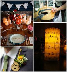 Music Themed Decor on itsabrideslife.com/Music Themed Wedding