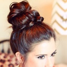 Rich, gorgeous color wrapped in a cute bun.