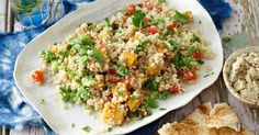 Celebrate the gorgeous flavours of the Middle East in this vegan quinoa, broad bean and pumpkin tabouli.