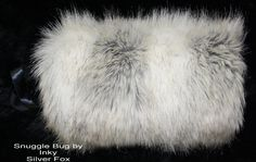Silver Fox Faux  Fake Fur   MUFF Hand Warmer  Soft  & Gorgeous Brand New ! #SnuggleBugbyInky #Muff