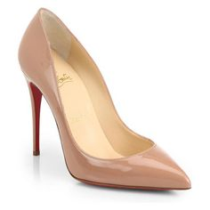 CHRISTIAN LOUBOUTIN Pigalle follies patent-leather pumps found on Nudevotion