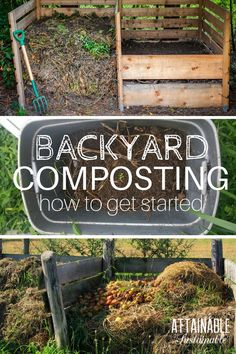 Backyard composting for beginners. How to transform kitchen and yard waste into natural fertilizer for your homestead vegetable garden.