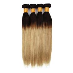 10 bundles honey blonde ombre human hair package - 16 18 20 22 24(2 of each Length) / Straight