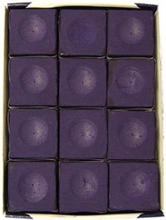 Billiards Equipment for Kids - Silver Cup Pool Table Chalk in Purple  12 Pc Set * You can find out more details at the link of the image.
