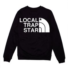 Local Trap Star Local Trap Star Crewneck (Black) ❤ liked on Polyvore featuring tops, sweaters, shirts, black, crew neck shirt, star sweater, star shirt, crew sweater and crew-neck sweaters