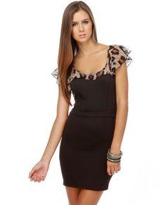 Cat-alina Leopard and Black Dress- From LuLu's! <3