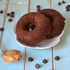 Architecture of a Mom: Tagalong Donuts {Chocolate Peanut Butter Cake Mix Donuts}
