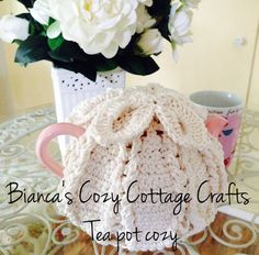 Teapot cozy teapot crochet cover Keep your by BsCozyCottageCrafts